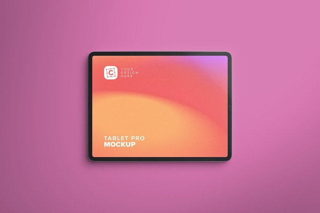 Landscape pro tablet mockup voor webdesign