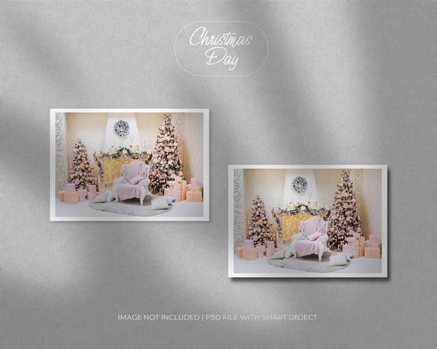 Landschap fotomodel voor kerst en nieuwjaar vrolijk kerstfeest