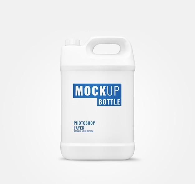Lange gallon fles mockup realistisch