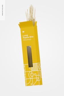 Lange pasta box mockup, falling