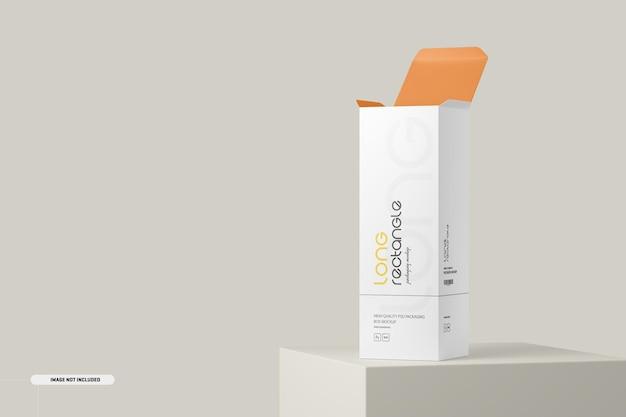 Lange rechthoekige doos verpakkingsmodel