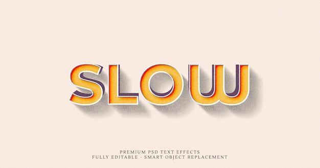Langzaam 3d-tekststijleffect