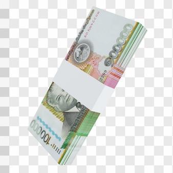 Laos valuta kip 100.000: stapel lak laos bankbiljet