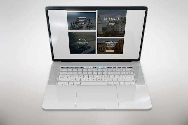 Laptop bespot bovenaanzicht
