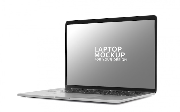 Laptop digitaal apparaat mockup ontwerp.