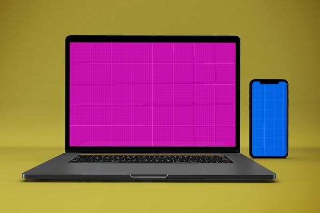 Laptop en mobiel mockup