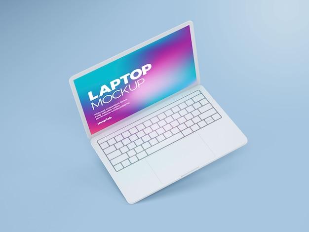 Laptop met bewerkbaar achtergrondmodel