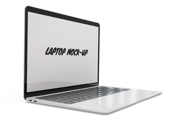 Laptop mock-up geïsoleerd