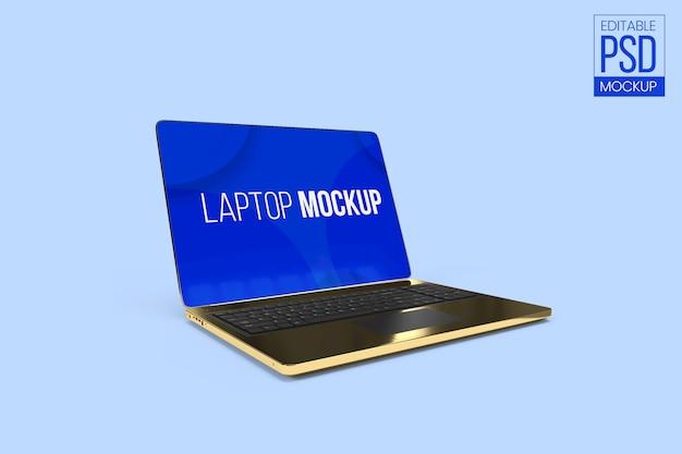 Laptop mockup bewerkbaar