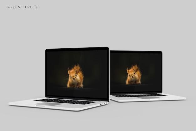 Laptop mockup design rendering geïsoleerd