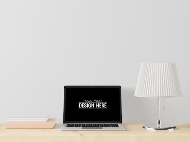 Laptop op werkruimtemodel