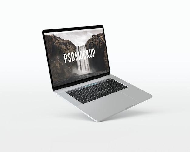 Laptop op witte achtergrond mock up