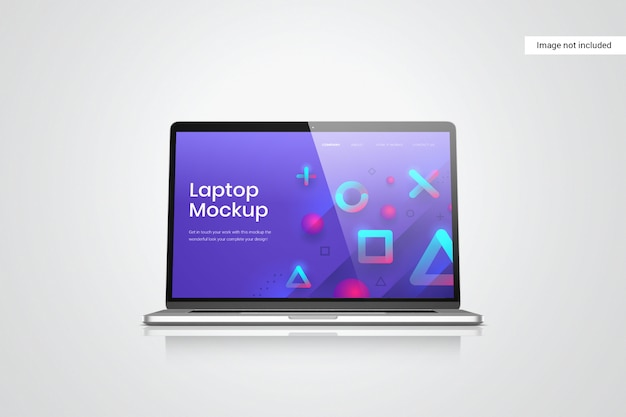 Laptop scherm mockup vooraanzicht