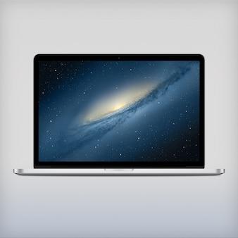 Laptop scherm vooraanzicht mock up