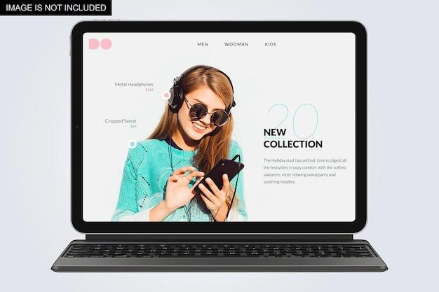 Laptop vooraanzicht mockup ontwerp