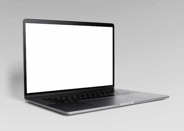 Laptop zwart scherm mockup digitaal apparaat