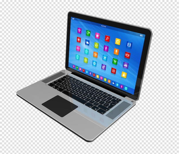 Laptopcomputer - apps pictogrammeninterface