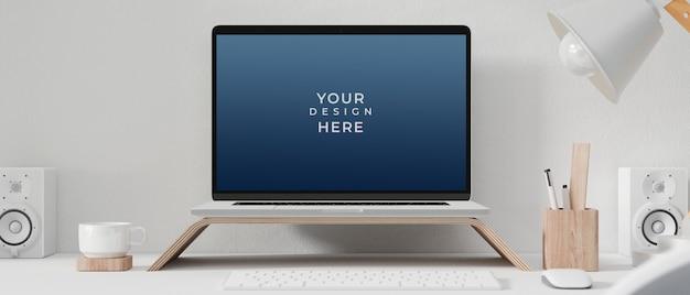 Laptopcomputer met mockup scherm