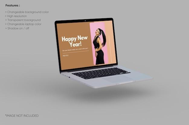 Laptopmodel op volledig scherm