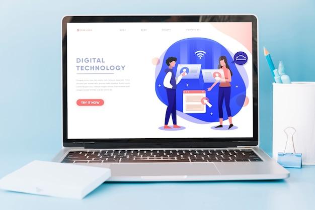 Laptopmodel op werkruimtelijst
