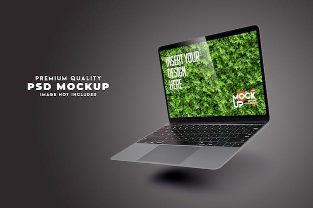 Laptopmodelontwerp premium psd