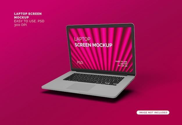 Laptopscherm mock-up