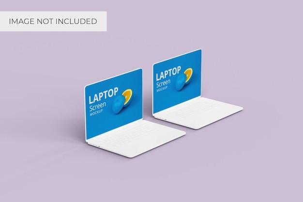 Laptopscherm mockup rechte hoekweergave