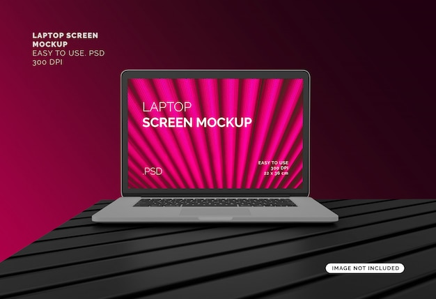 Laptopscherm mockup