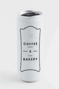 Lata blanca resellable de cafetería y panadería casera