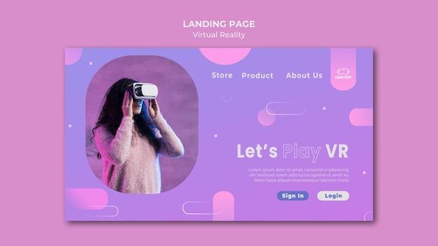 Laten we de bestemmingspagina van virtual reality spelen