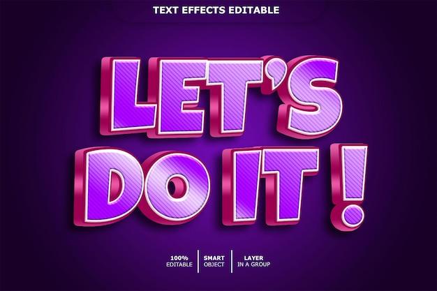 Laten we het doen teksteffect bewerkbaar