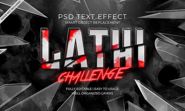 Lathi uitdaging teksteffect