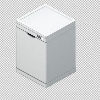 Lavavajillas 3d isométrico render