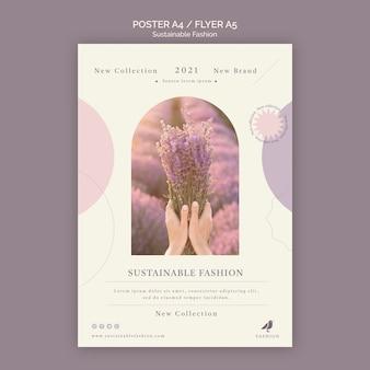 Lavendel duurzame mode poster afdruksjabloon