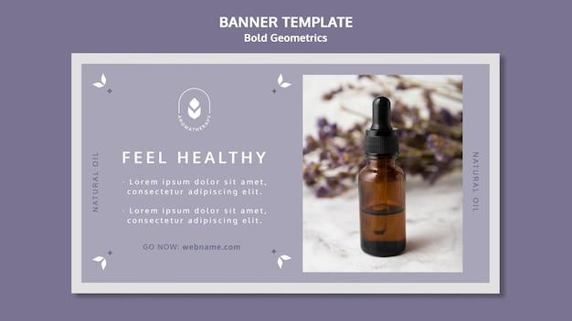 Lavendelolie sjabloon banner