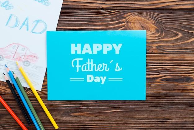 Lay flat del concepto del día del padre