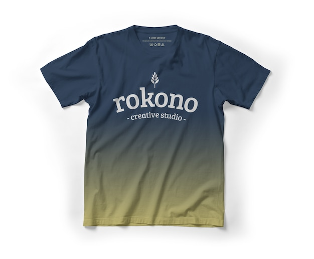 Lay flat de maqueta de camiseta realista