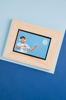 Lay flat de marco de imagen