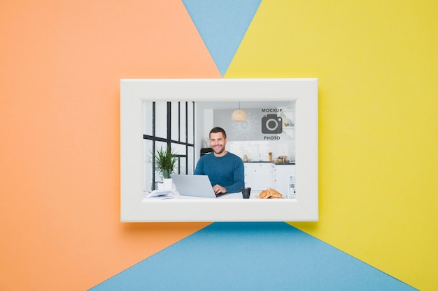 Lay flat de marco minimalista