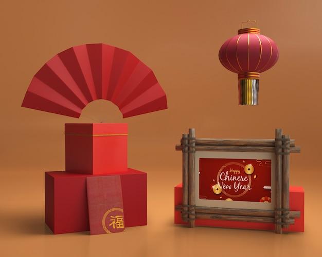 Le decorazioni del nuovo anno hanno creato il modello