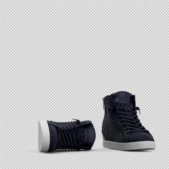 Le scarpe isometriche 3d isolate rendono