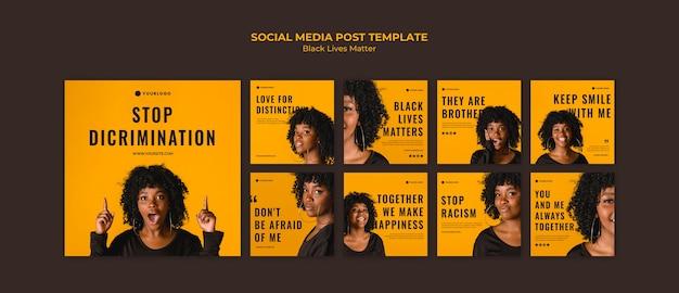 Le vite nere contano il modello di post sui social media