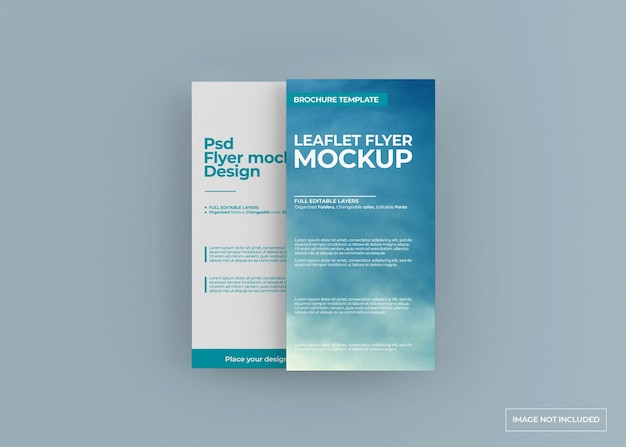 Leaflet flyer mockup ontwerp geïsoleerd