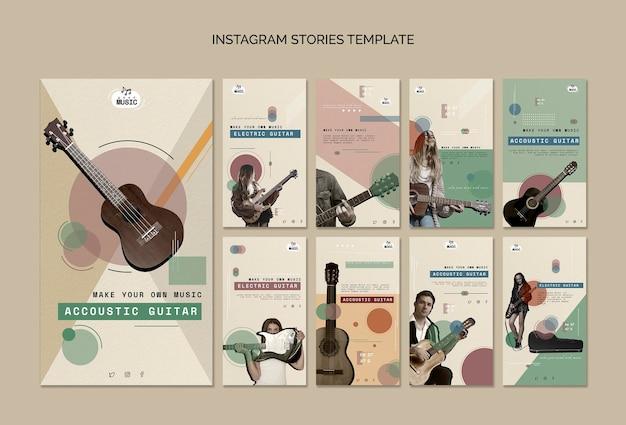 Lecciones de guitarra acústica historias de instagram