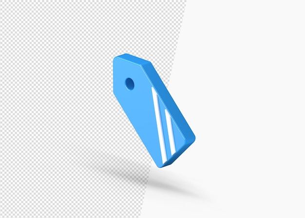 Leeg label verkoop badge geïsoleerd 3d pictogram