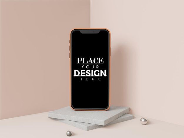 Leeg scherm smartphone-mockup