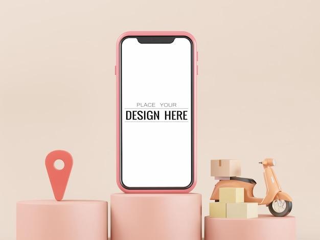 Leeg scherm smartphone mockup