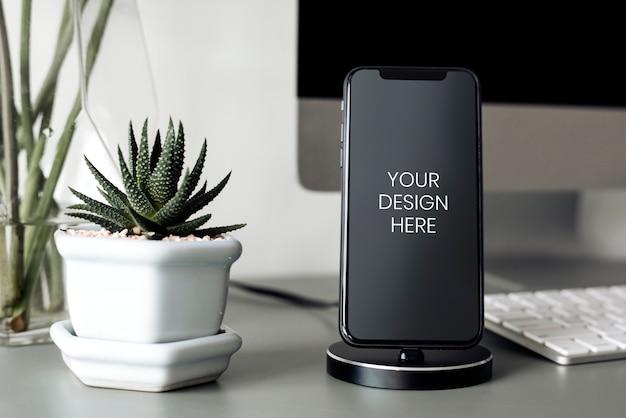 Leeg scherm van mobiele telefoon