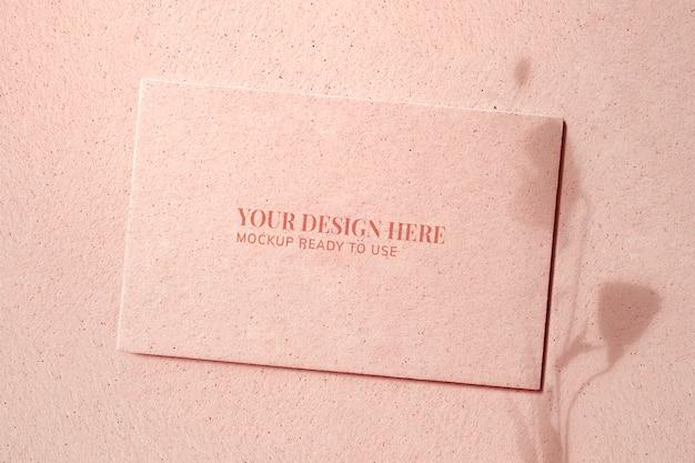 Leeg visitekaartje mockup ontwerp