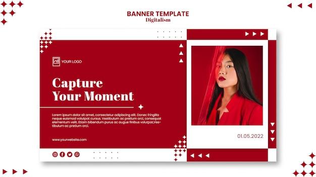 Leg het moment-bannermalplaatje vast